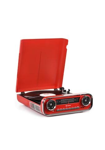 Auna Plattenspieler Bluetooth UKW - Radio USB rot »Challenger LP« kaufen