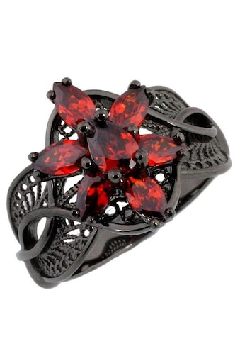 Der Herr der Ringe Fingerring »Dark Years Collection Arwens Abendstern Filigran  -  schwarz rot, 20003786« kaufen