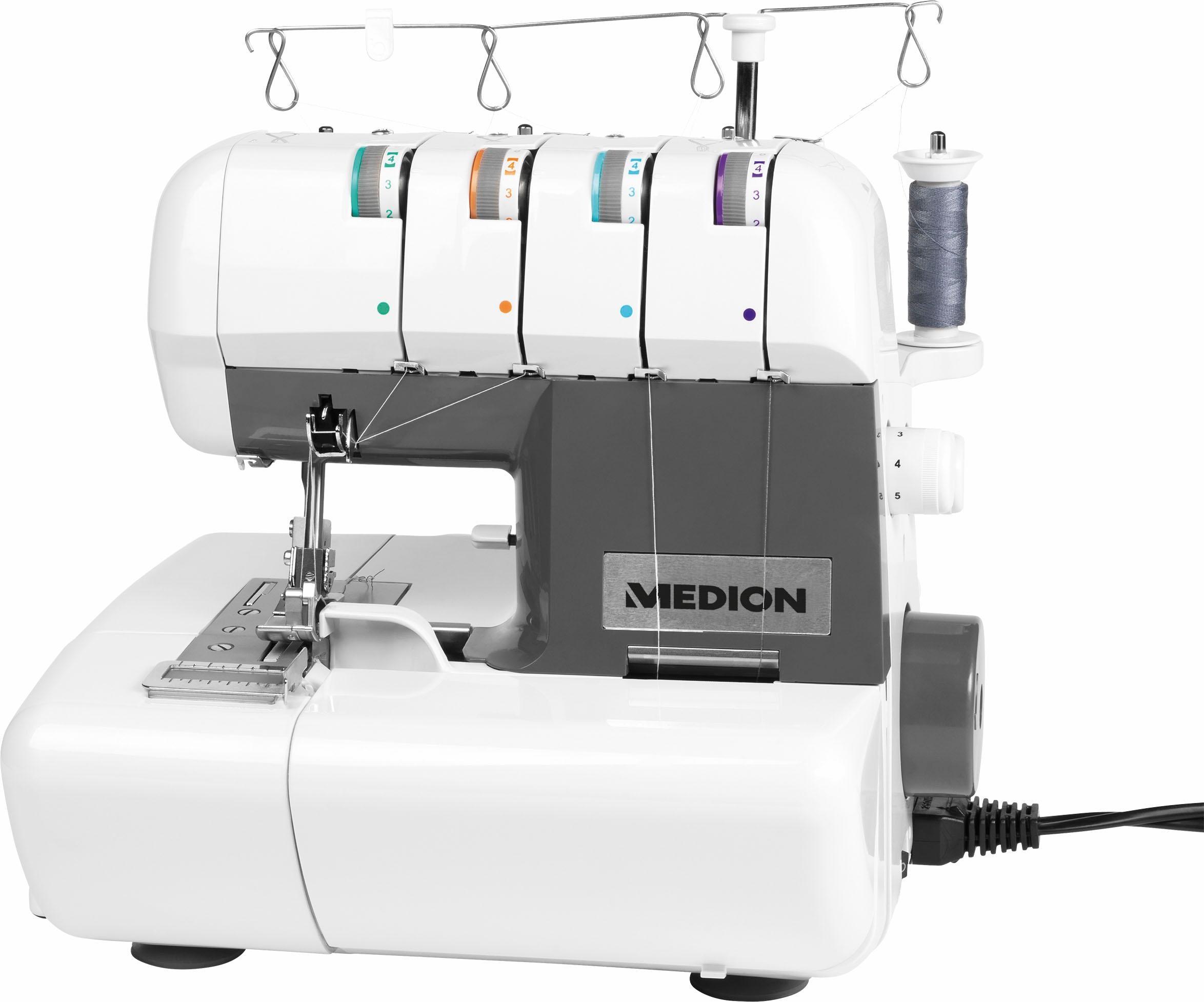 Medion® Overlock-Nähmaschine 50050244/ MD 16600   Flur & Diele > Haushaltsgeräte > Strick und Nähmaschinen   Weiß   MEDION®