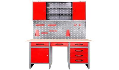 ONDIS24 Werkstatt - Set »Harry«, mit LED Touch - Lampen, inkl. Hakenset kaufen