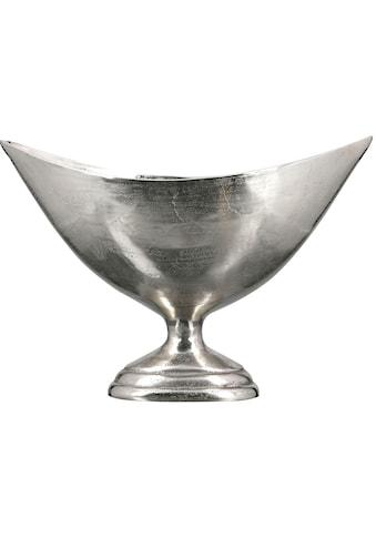 Casablanca by Gilde Dekoschale »Schale Trophy, klein (Breite 46 cm), silberfarben«, aus Metall, antikfinish, mit Fuß, Wohnzimmer kaufen
