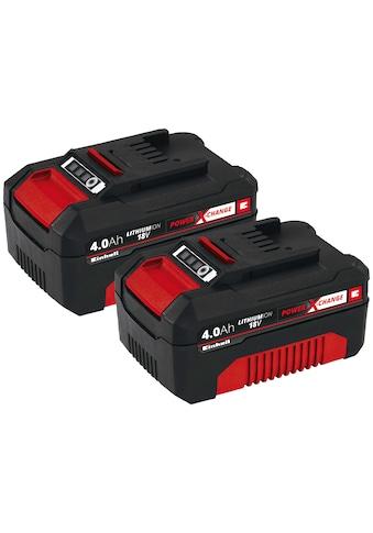 Einhell Akku »PXC-Twinpack«, 18,0 V, Power X-Change, 2-tlg., 18 V, 4 Ah kaufen