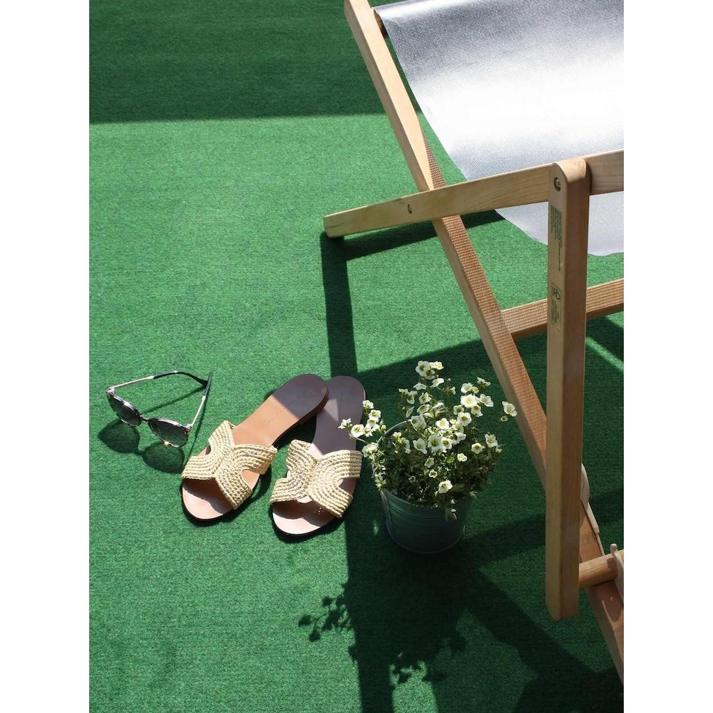 Primaflor-Ideen in Textil Kunstrasen »COMFORT«, rechteckig, 5 mm Höhe, Rasenteppich, grün, mit Noppen, strapazierfähig, witterungsbeständig, In- und Outdoor geeignet