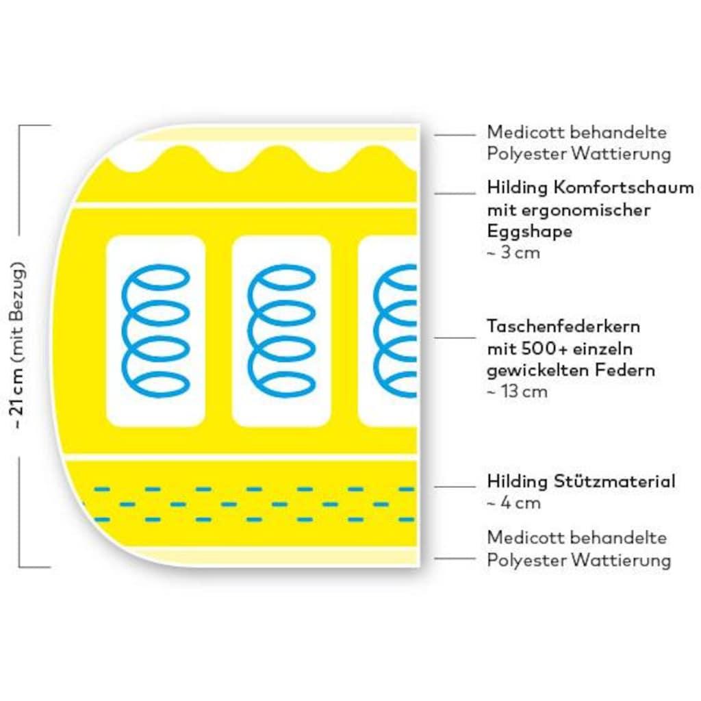 Hilding Sweden Taschenfederkernmatratze »Essentials«, 792 Federn, (1 St.), von Stiftung Warentest »GUT (2,5)«, getestet in Größe 90x200 cm in mittelfest*