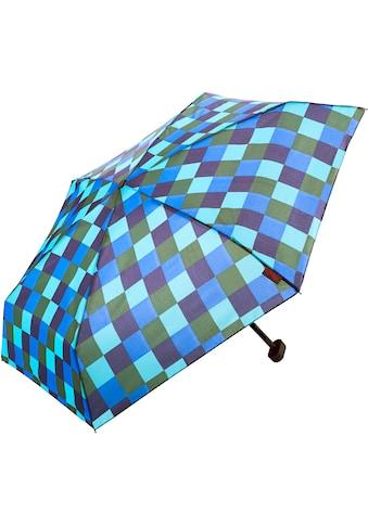 Euroschirm Taschenregenschirm »Dainty, Karo blau grün« kaufen