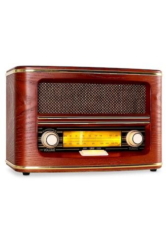 Auna Retro Radio UKW MW Nostalgie Vintage Holzgehäuse Lautsprecher kaufen