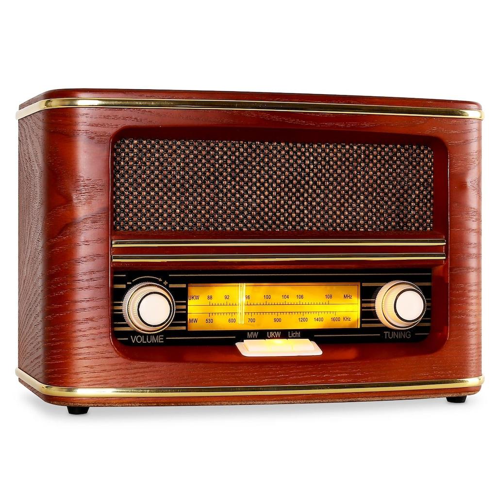 Auna Retro Radio UKW MW Nostalgie Vintage Holzgehäuse Lautsprecher