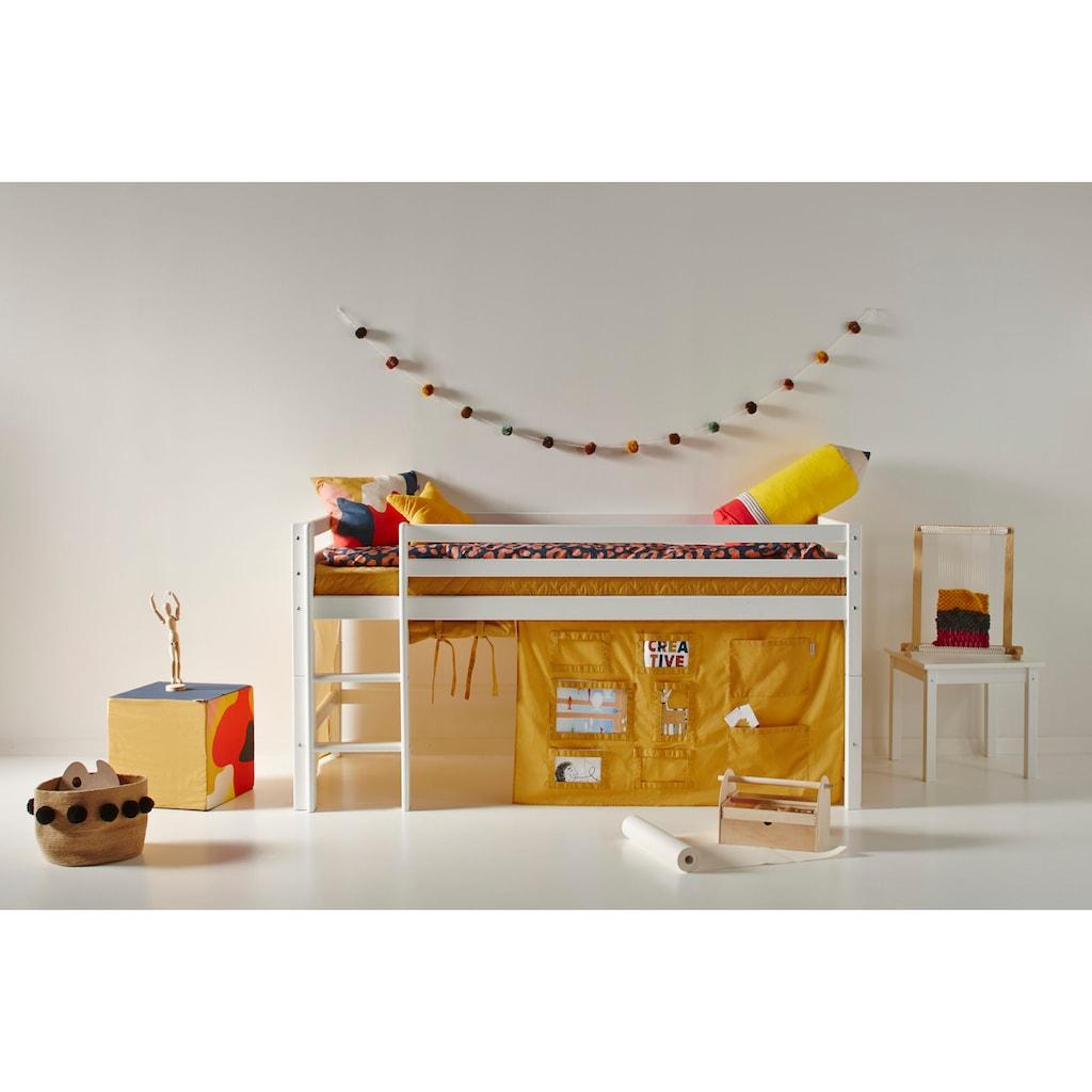 Hoppekids Hochbett, mit Matratze und Textil-Set