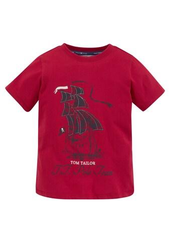 TOM TAILOR Polo Team T-Shirt »Segelschiff« kaufen