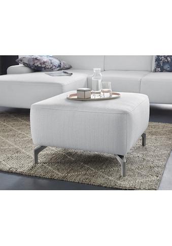 sit&more Hocker, Fußhöhe 15 cm, wahlweise in 2 unterschiedlichen Fußfarben kaufen
