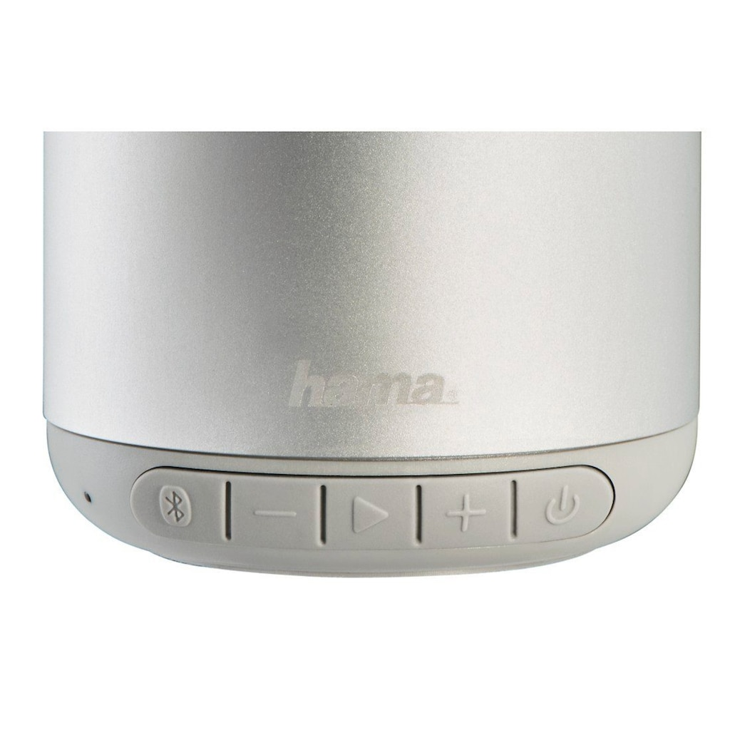 "Hama Mobiler Bluetooth®-Lautsprecher ""Steel Drum"", Silber"
