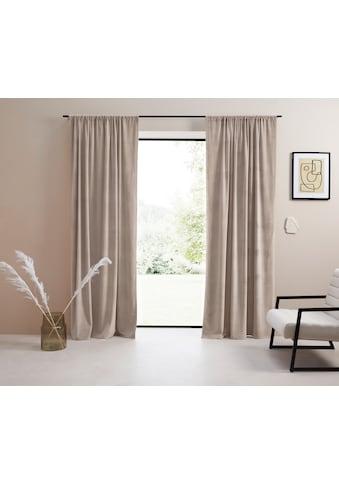 Vorhang, »Samt Ladina«, LeGer Home by Lena Gercke, Stangendurchzug 1 Stück kaufen