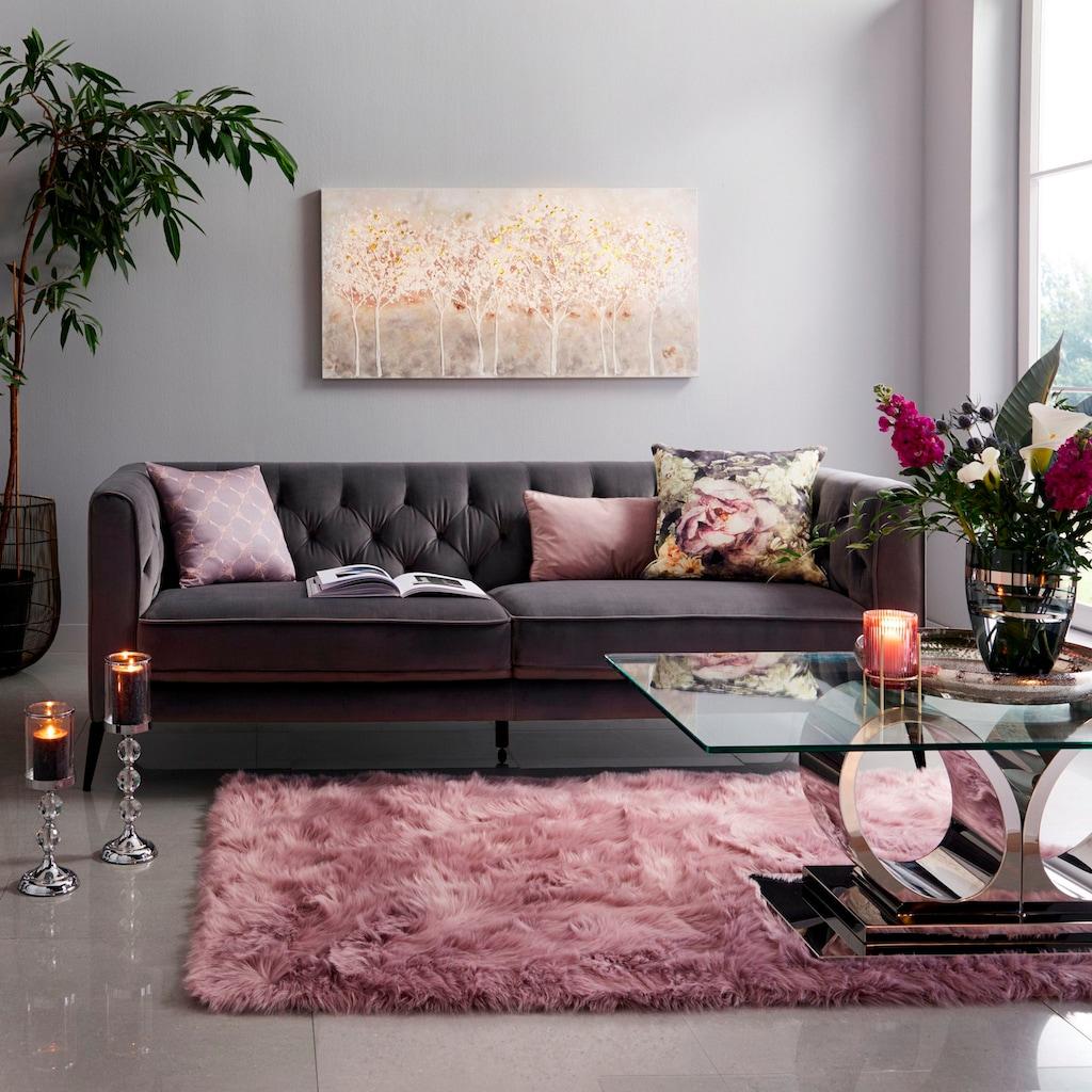 Guido Maria Kretschmer Home&Living Fellteppich »Triana«, rechteckig, 60 mm Höhe, Kunstfell, sehr weicher Flor, Wohnzimmer