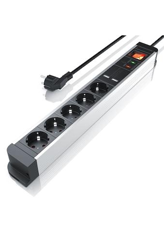 Arendo 5 - fach Steckdosenleiste mit 2x USB - Ports (2000mA / 5V) »integrierter Kinderschutz/ 1,5m« kaufen