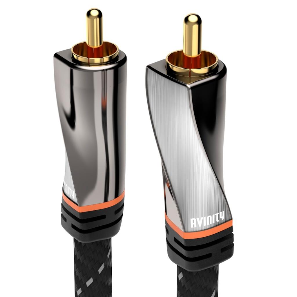 AVINITY Audio-Kabel »1 Stecker - 1 Stecker«, Cinch, 300 cm, Gewebe, vergoldet, 3 m