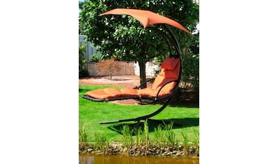 Leco Gartenliege, Stahl/Textil, terracotta, inkl. Auflage kaufen