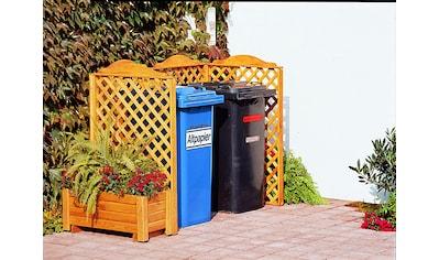 promadino Mülltonnenbox »Rex«, Abtrennung, für 2 x 240 l, inkl. Pflanzkasten kaufen