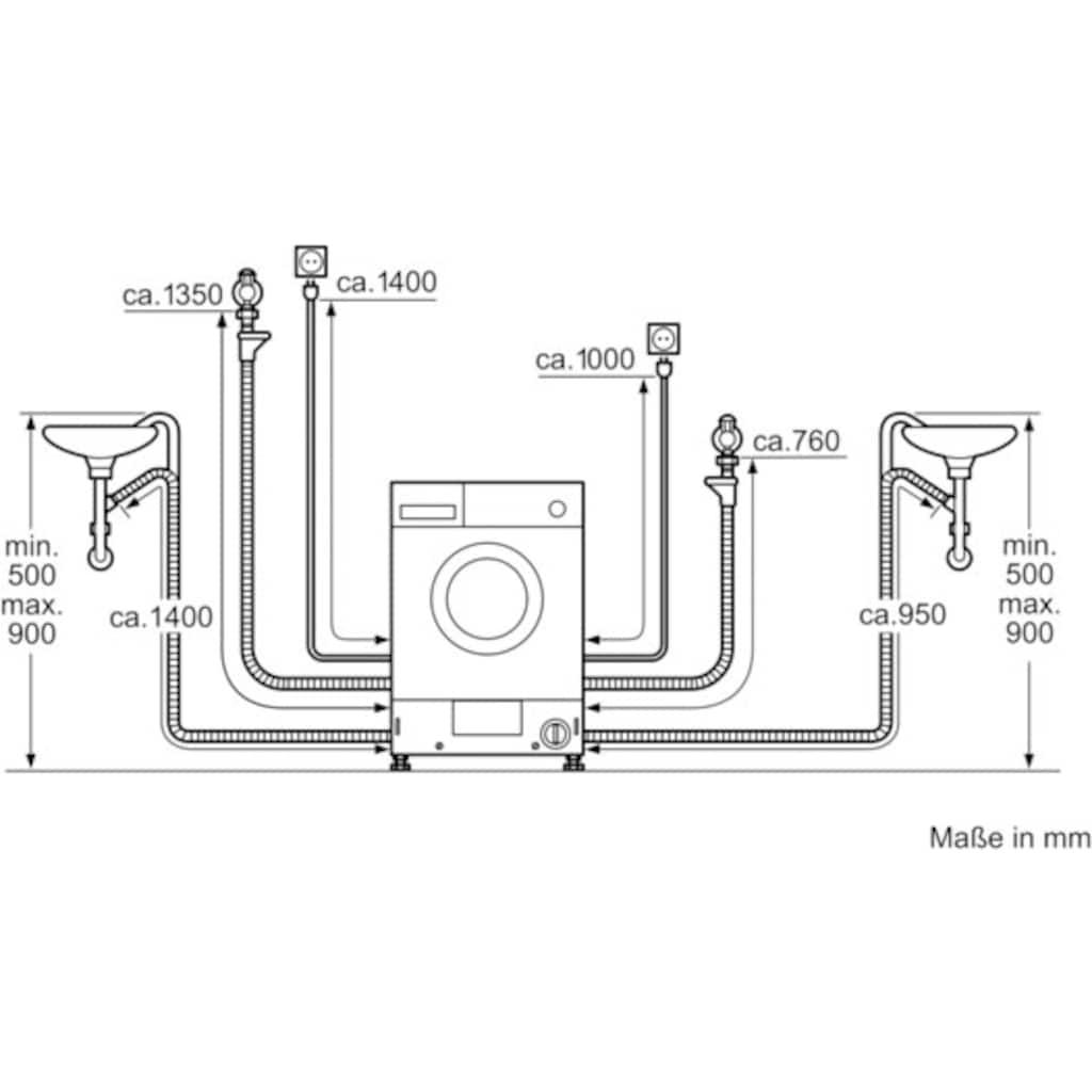 NEFF Einbauwaschtrockner »V6540X2«