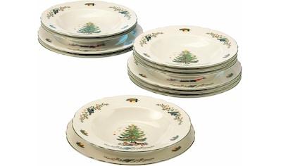Seltmann Weiden Tafelservice »Marieluise Weihnachten«, (Set, 12 tlg.), Mikrowellengeeignet kaufen