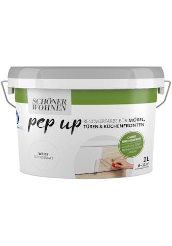 SCHÖNER WOHNEN-Kollektion Lack »pep up - weiß«, seidenmatt, für Möbel, Türen und... kaufen