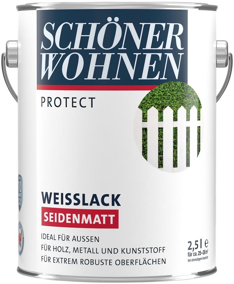 Schöner Wohnen Farbe Weißlack »ProfiDur seidenmatt, 2,5 L« online ...