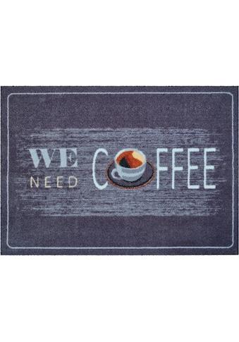 Grund Fußmatte »Coffee«, rechteckig, 8 mm Höhe, Schmutzfangmatte, mit Spruch, In- und... kaufen