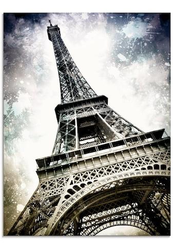 Artland Glasbild »Paris Eiffelturm Dekorativ«, Gebäude, (1 St.) kaufen
