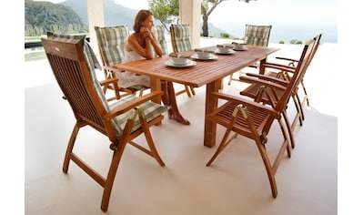 MERXX Gartentisch »Bordeaux«, Eukalyptusholz, ausziehbar, 260x100 cm, braun kaufen
