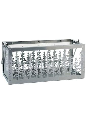 Windlicht, aus Metall und Glas, Breite ca. 31,5 cm kaufen