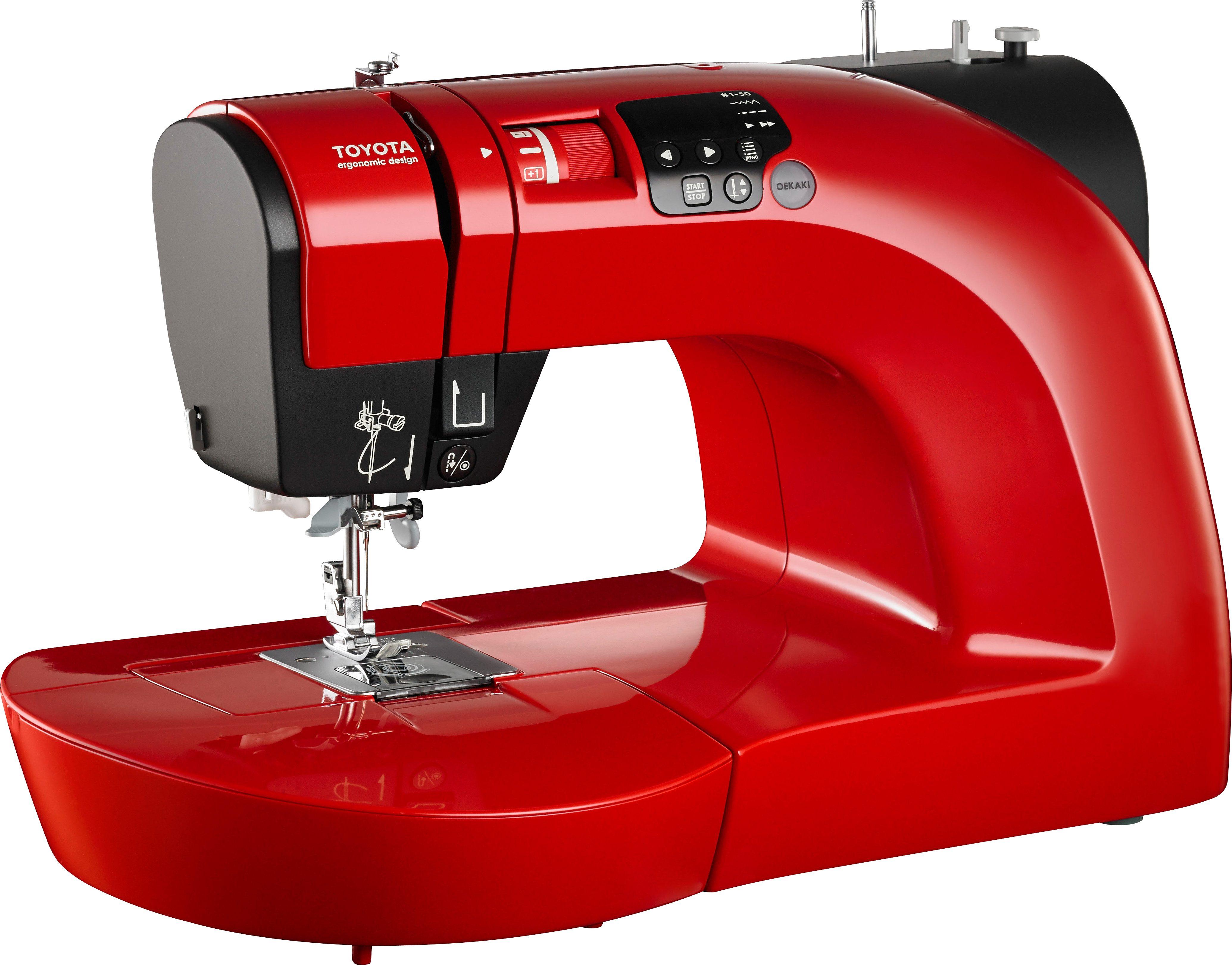 TOYOTA Nähmaschine 50R, 50 Nähprogramme | Flur & Diele > Haushaltsgeräte > Strick und Nähmaschinen | Rot | TOYOTA
