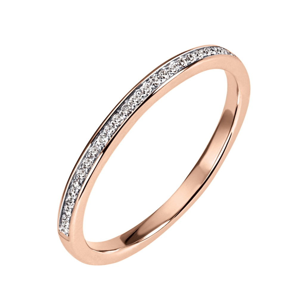 Firetti Diamantring »Ca. 2 mm breit, Kanalfassung, Glanz, massiv«, mit Brillanten