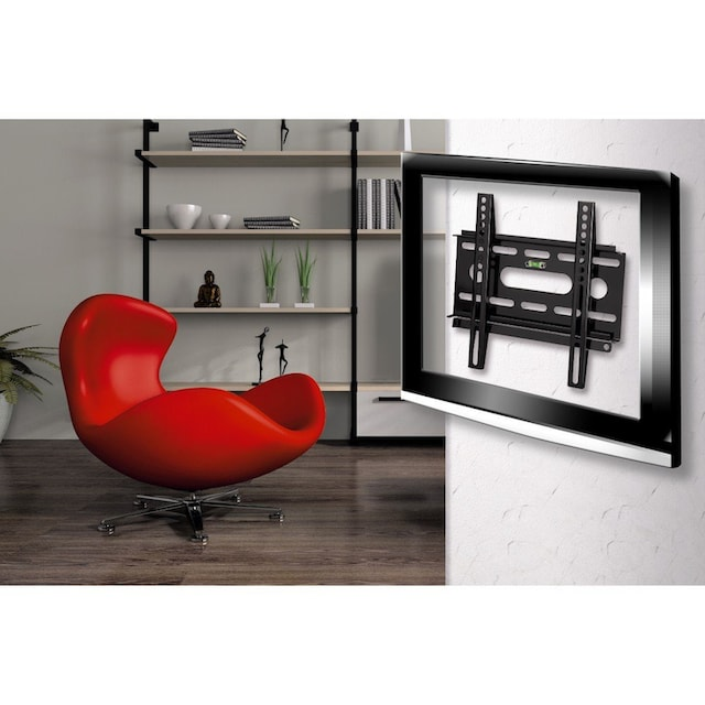 Hama TV Wandhalter, Fernsehhalterung, flach, bis 94cm (37 Zoll) »FIX Ultraslim bis VESA 200x200«