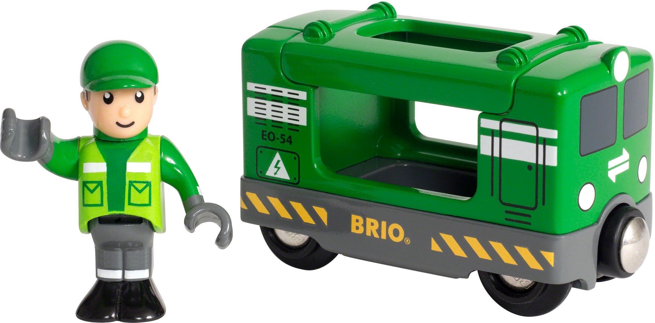 Brio® Spielzeugeisenbahn, »BRIO® WORLD Frachtlok mit Fahrer«