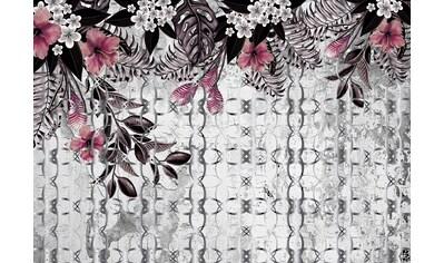 CONSALNET Vliestapete »Rosa Muster mit Blumen«, in verschiedenen Größen kaufen