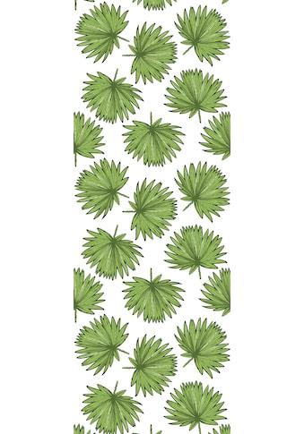 QUEENCE Vinyltapete »Tropische Blätter - Grün«, 90 x 250 cm, selbstklebend kaufen