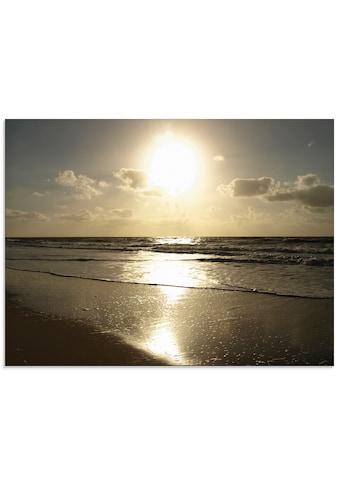 Artland Glasbild »Stille«, Strand, (1 St.) kaufen