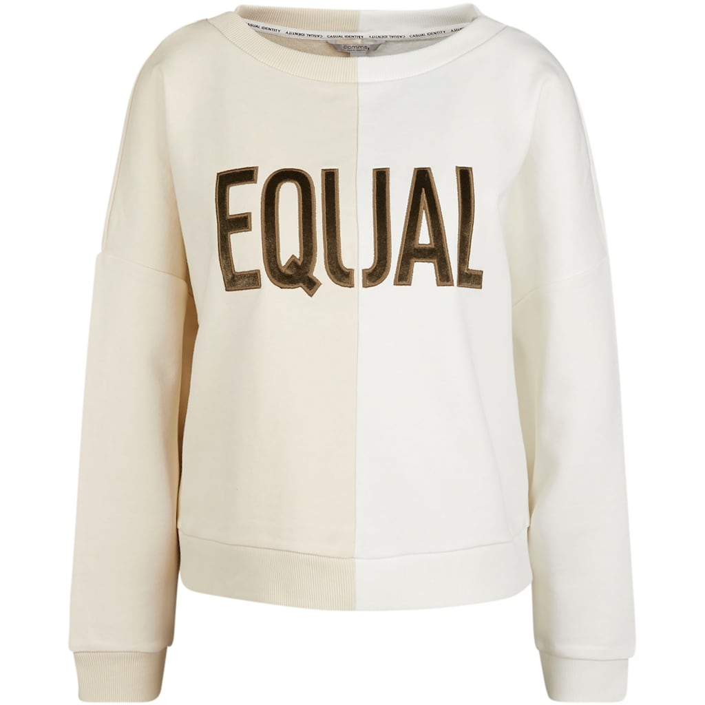 Comma Sweatshirt, mit Stickerei