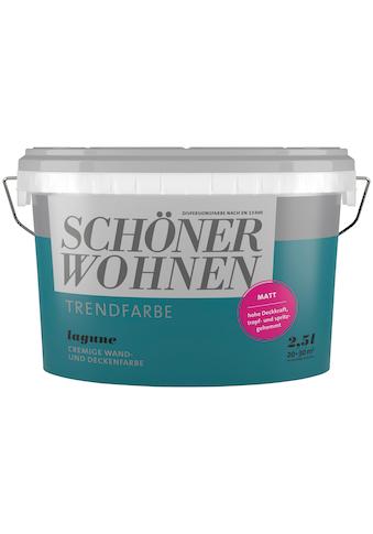SCHÖNER WOHNEN-Kollektion Wand- und Deckenfarbe »Trendfarbe Lagune, matt«, 2,5 l kaufen