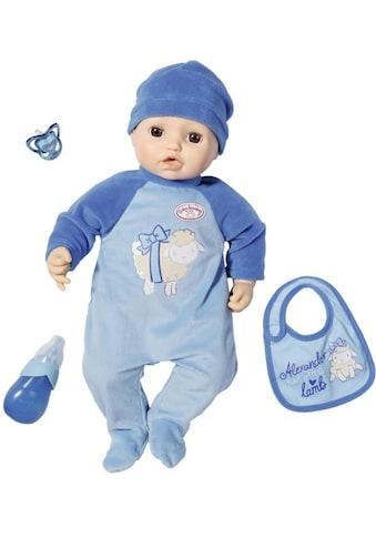 Baby Annabell Babypuppe »Alexander, 43 cm«, interaktiv mit Schlafaugen kaufen