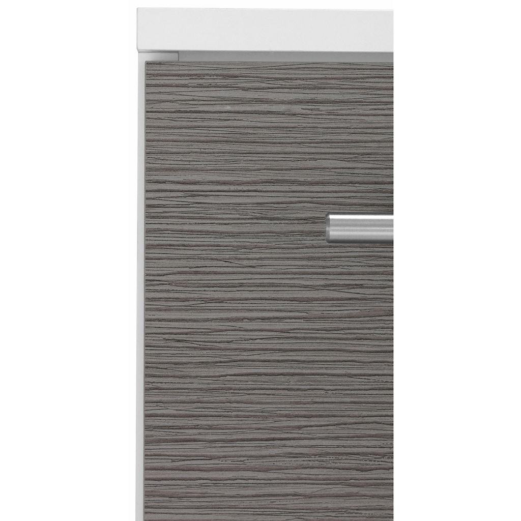 Schildmeyer Waschbeckenunterschrank »Palermo«, Breite 60 cm, mit Metallgriffen, verstellbarer Einlegeboden, auf Rollen