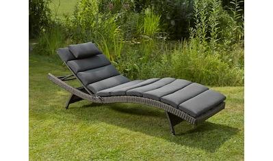 DESTINY Gartenliege »Wave«, Polyrattan, verstellbar, ohne Auflage kaufen