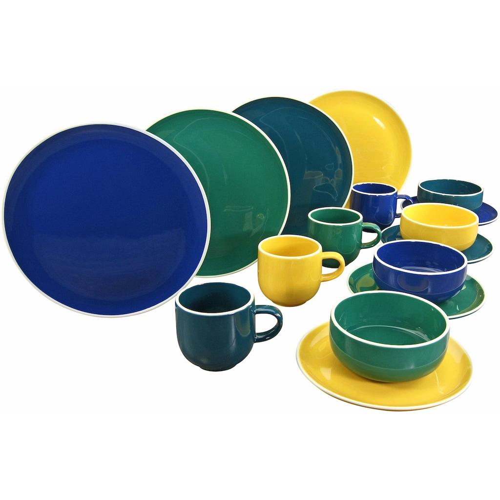 CreaTable Kombiservice »Dallas«, (Set, 16 tlg.), topaktuelle Farbgebung