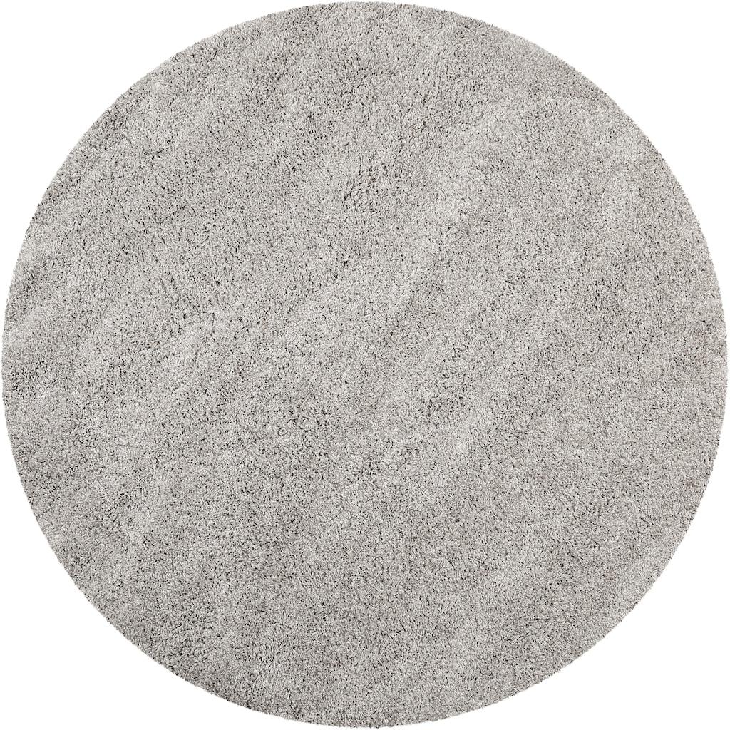 Wecon home Basics Hochflor-Teppich »Paula«, rund, 55 mm Höhe