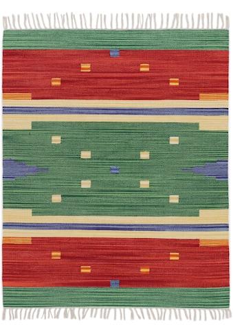 carpetfine Teppich »Kelim Amar«, rechteckig, 5 mm Höhe, Wendeteppich, Flachgewebe, reine Baumwolle, Wohnzimmer kaufen