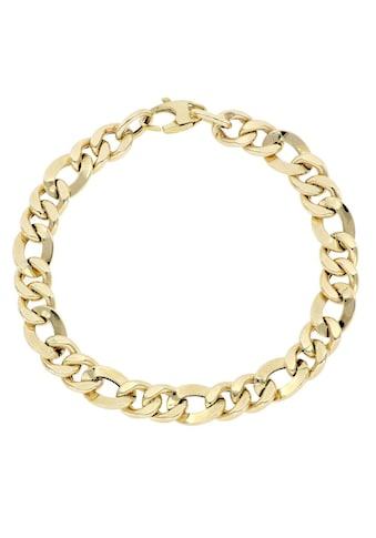 Firetti Goldarmband »Figarokettengliederung, Diamantiert, 7,6 - 8 mm breit« kaufen