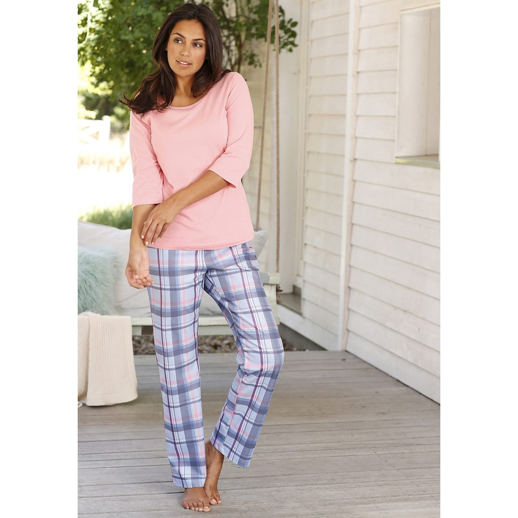 Arizona Pyjama, (2 Stück), mit passenden Basicshirts