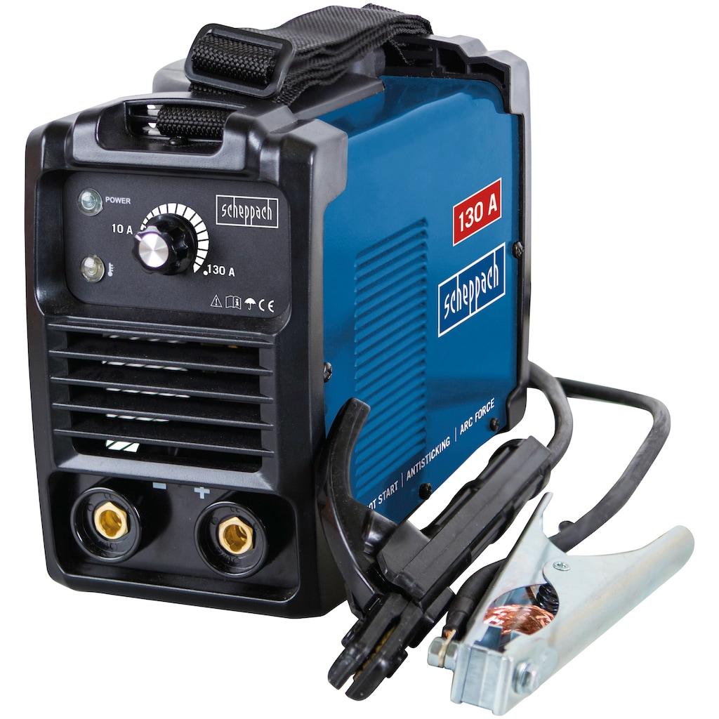 Scheppach Inverterschweißgerät »WSE1000«, mit Schweißschirm, Drahtbürste, Schlackehammer, Elektroden, Tragegurt