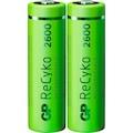 GP Batteries Akku »AA Akku GP NiMH 2600 mAh ReCyko 1,2V 2 Stück«, AA