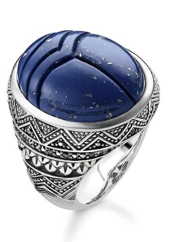 THOMAS SABO Silberring »TR2205-534-1-48, 50, 52, 54, 56, 58, 60, 62, 64, 66, 68, blauer Skarabäus«, mit imit. Lapislazuli und Zirkonia kaufen