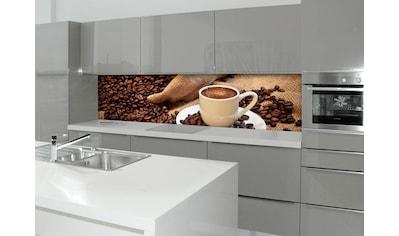 Küchenrückwand  -  Spritzschutz »profix«, Kaffeepause, 220x60 cm kaufen